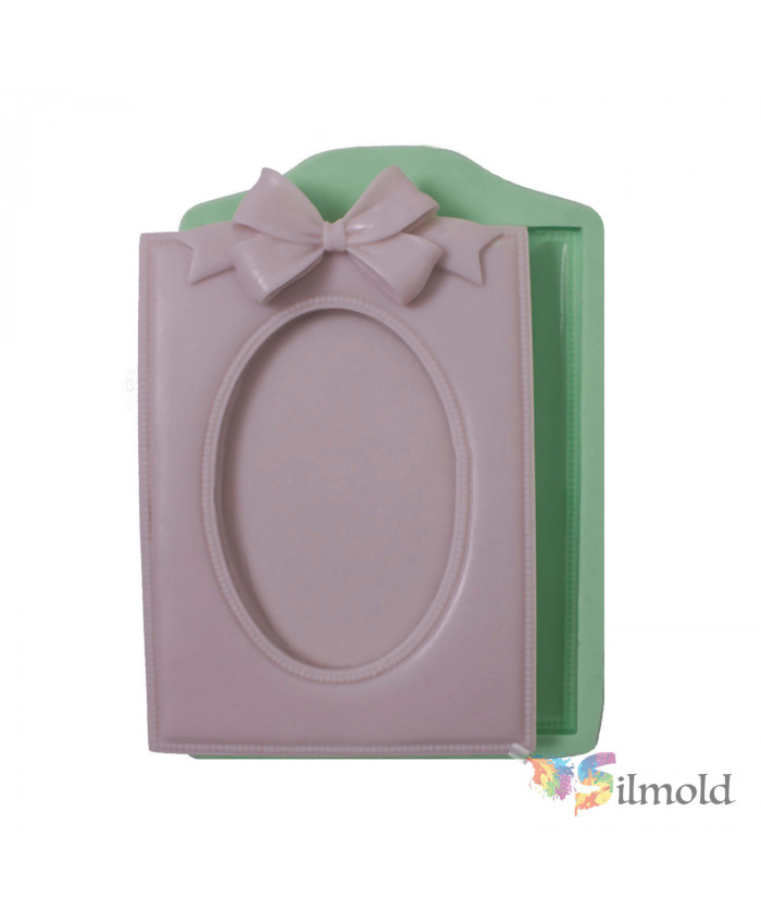 Square Frame with Bowtie (small) Silicone Mold