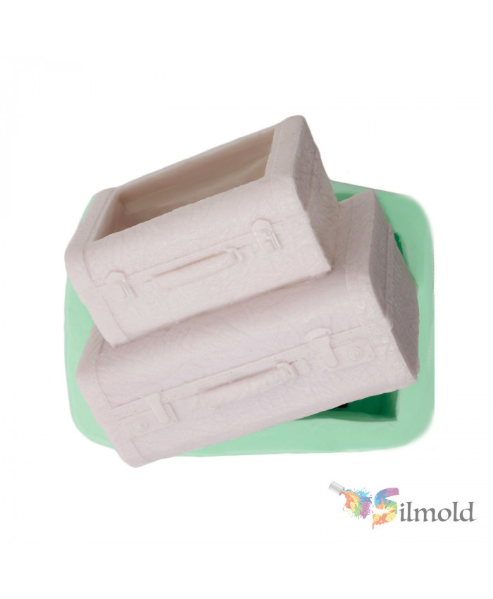 Suitcase Flowerpot Silicone Mold