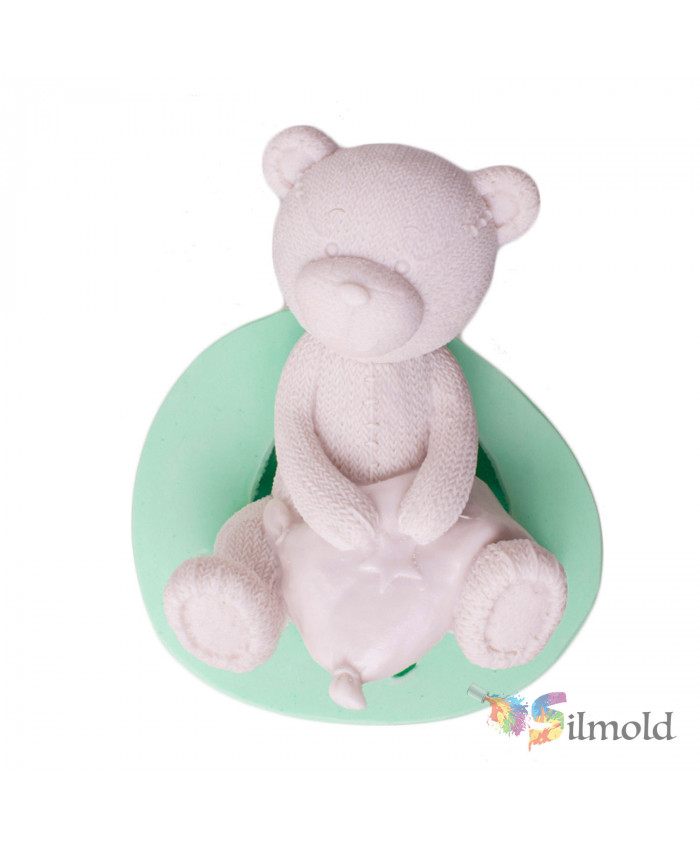 Teddy Bear Trinket Silicone Mold