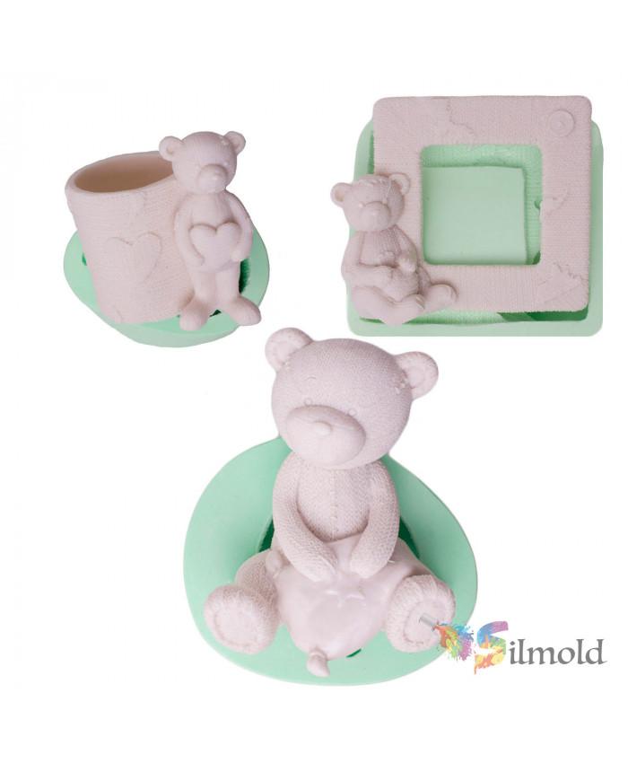 Teddy Bears (trio) Silicone Mold