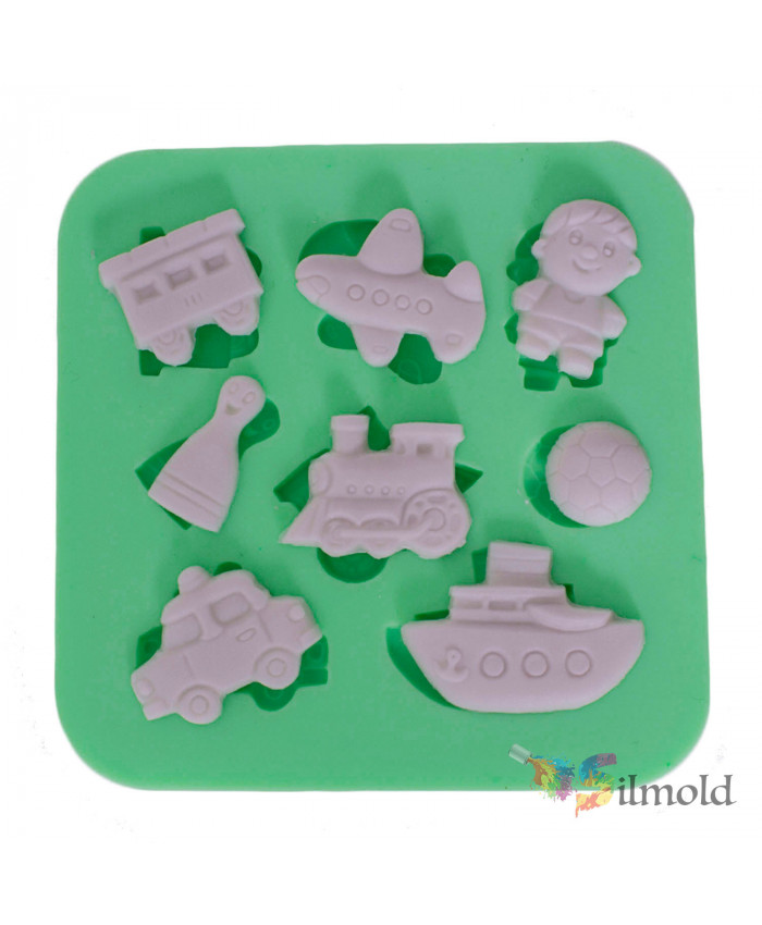 Vehicle-themed Silicone Mold