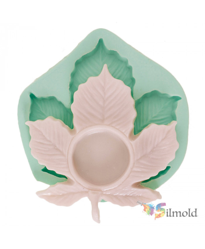 Vine Leaf Candleholder Silicone Mold