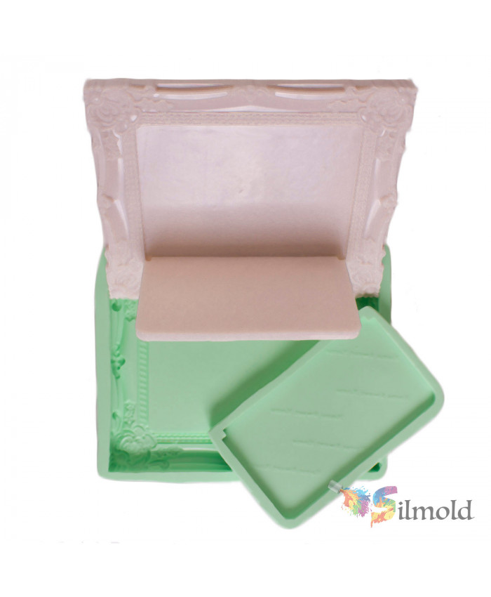 Vintage Frame (footed) Silicone Mold (2)