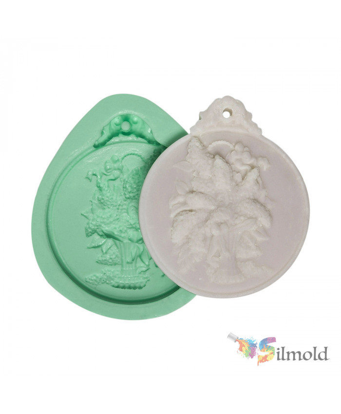 Wild Flowers in Vase (perforated) Silicone Mold